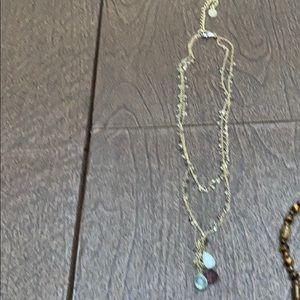 Double chain w/small stone